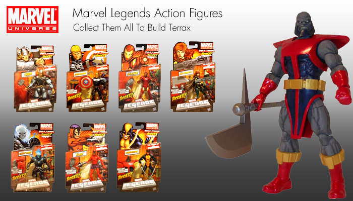 Marvel legends build a figure terrax