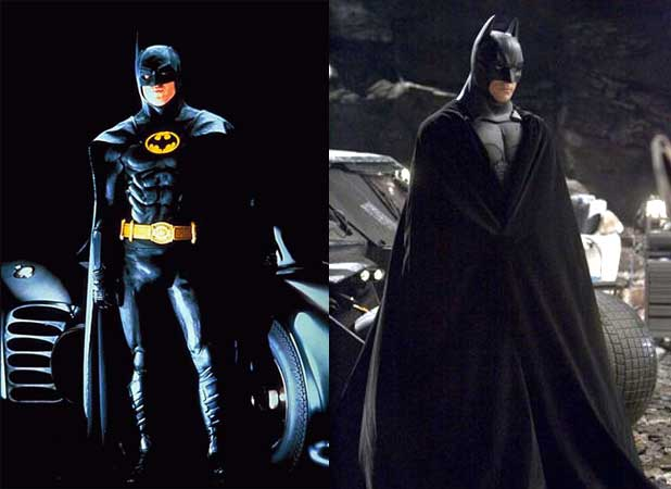 Batman costumes Michael Keaton Christian Bale