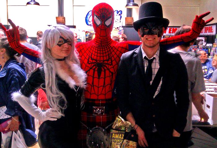 Blackcat, Spiderman and Lord Batman