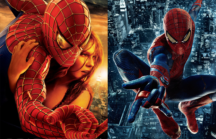 spiderman suits tobey maguire andrew garfield
