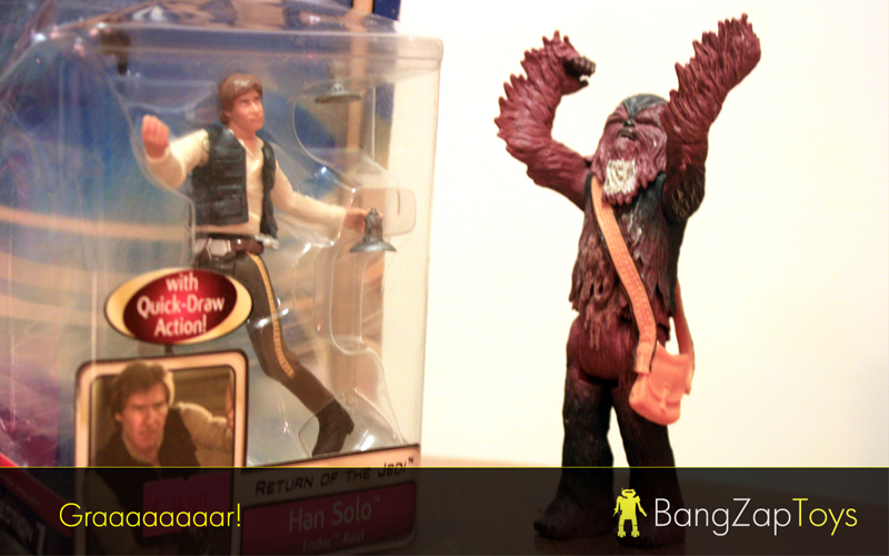 Han and Chewie action figures
