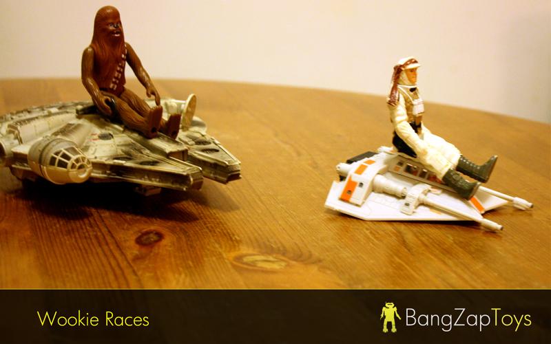 Wookie races chewie millenium falcon